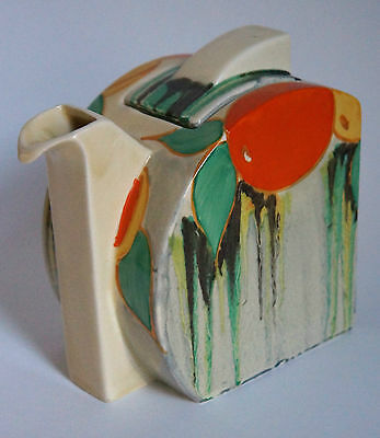 Clarice Cliff Stamford Tea Pot - Delecia Citrus