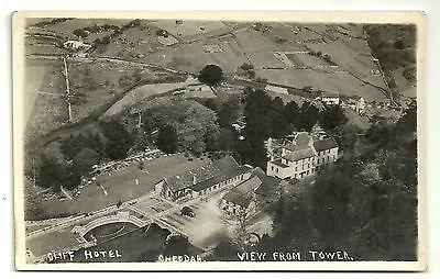 Somerset postcard Cheddar Cliff hotel view from tower