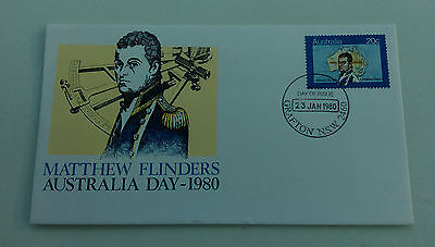 AUSTRALIA - 23rd January 1980 - AUSTRALIA DAY - MATTHEW FLINDERS FIRST DAY COVER