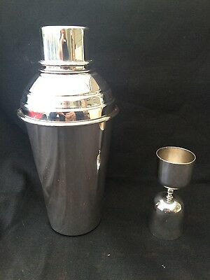Vintage Swatkins Silver Plated Cocktail Shaker With (P.h.v) Spirit Measure