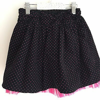 Black Cord with hot pink polka dots, net skirt,  5 yr girl, smart, party, warm