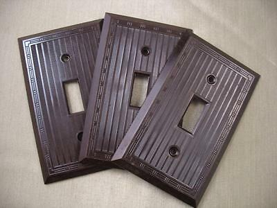 3 Vintage Bakelite Switch Plate Covers 1-Hubbell, 2-Bryant All Identical