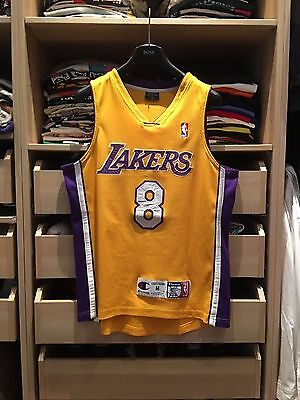 *RARE NBA Los Angeles Lakers Home Authentic Kobe Bryant Jersey Champion size M*