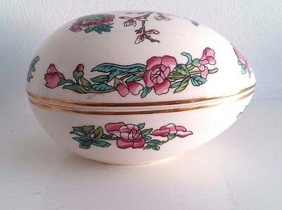 Lord Nelson Pottery Egg Shaped Trinket Box