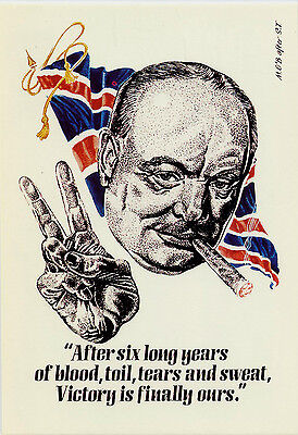 Mayfair Postcards.(046) ~ Sir Winston Churchill And Victory.