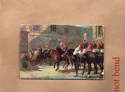 Tucks Oilette mounting guard at whitehall.posted 1905   art