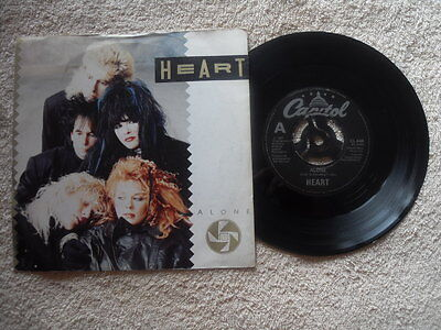 "HEART ALONE CAPITOL RECORDS UK 7"" VINYL SINGLE in PICTURE SLEEVE"