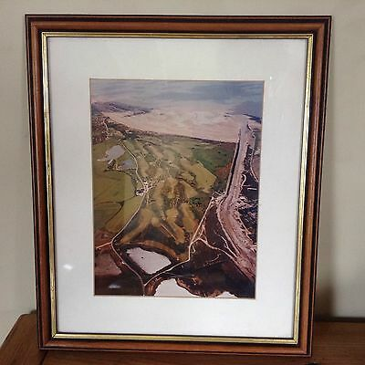 Rare Aerial Photograph RYE GOLF CLUB Camber, Jubilee Course. Professional Frame.