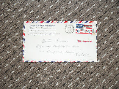 Philately stamped posted envelope 1977 USA