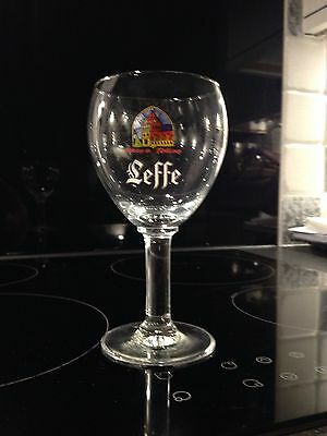 2 Genuine Leffe Continental Beer Glasses. Limited Edition