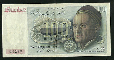 Germany-Federal Republic 100 Deutsche Mark 1948, P#15a VF+ Very Scarce BANKNOTE
