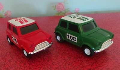 2 x Mini Slot Cars (red &green)