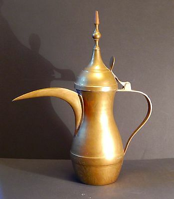 Vintage Brass Arabic Dallah Coffee Pot