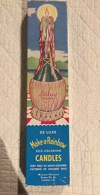 """Vintage Emkay Candles """"Deluxe Make-a-Rainbow"""" 1950's """"New"""""""