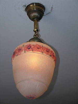 Chandelier, Entry, Hall, Bedroom. Frosted Reverse Painted Shade • CAD $113.40