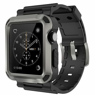 Simpeak Apple Watch Rugged Protective Case With Screen Protector!! 42Mm