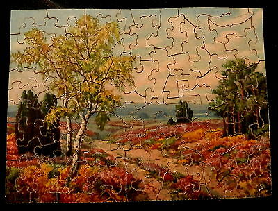 DON SIMONDS Winchester Mass JOLLY JIGSAW IN MINIATURE Wood Puzzle HEATHER - CIB