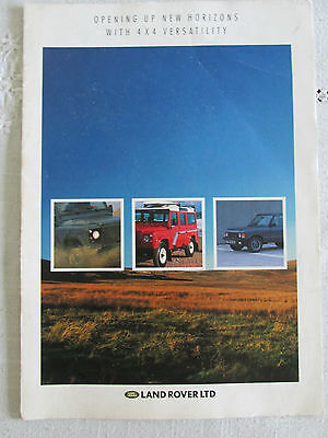 1988 Land Rover And Range Rover Brochure