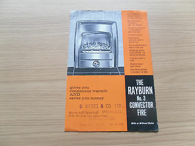 The Rayburn No 3 Convector Fire Leaflet