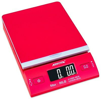 Accuteck DreamRed 86 Lbs Digital Postal Scale Shipping Scale Postage With USB&AC