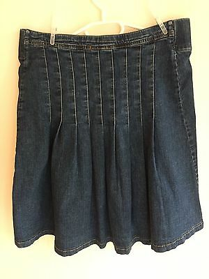 Pre-Maman Maternity denim skirt - Medium - pleated