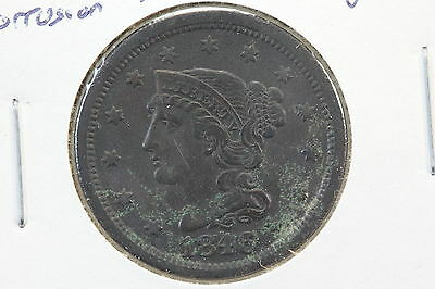 1846 Large Cent F Surface Corrosion