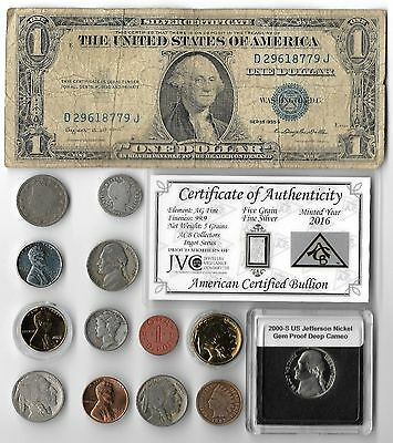 Silver Dollar Barber Mercury Antique Indian Liberty Coin US Collection Lot Gold