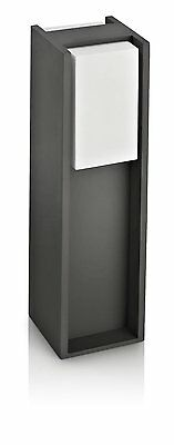 Philips Ecomoods Bridge Outdoor Pedestal Anthracite - Includes 1 x 14W E27 Bulb
