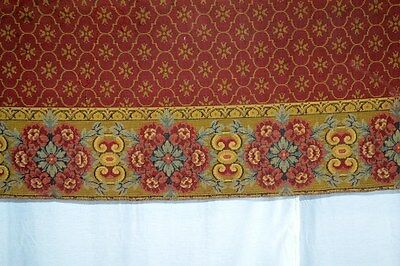 woven tapestry throw spread table cover Victorian 101 in. antique original