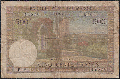 500 Francs From Morocco 19.12.56