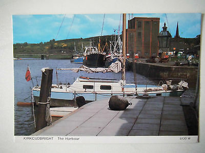 Kirkcudbright The Harbour Old Postcard Whiteholme Publishers Dundee