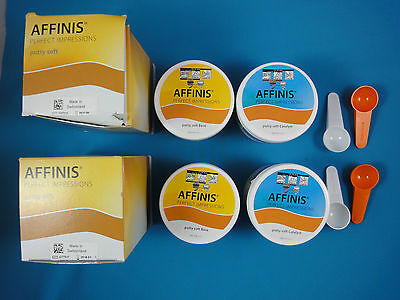 Affinis Putty soft Base Catalyst A-Silikon 4x 300 ml Abformmaterial Coltene