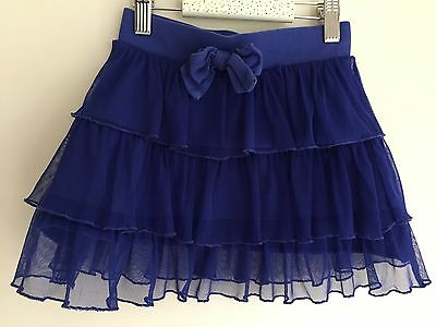 Blue tiered fluffy net skirt 5 years girl