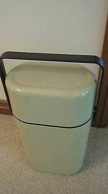 Retro 1980's Decor wine cooler with freezer insert holds 2 bottles