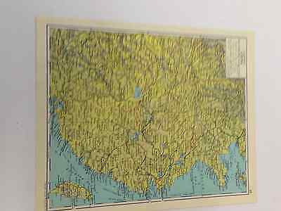 Eastern China Map Old Original Print 1963 Railways Canals Shipping Routes