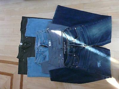 Lot Of 4 Pairs Of Ladies' Jeans/pants - Size 4