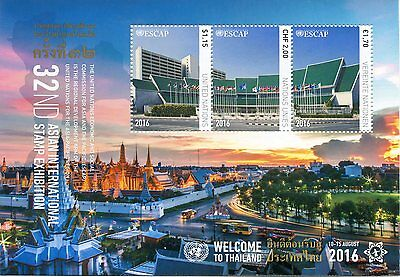 Un United Nations Asian Int'l Stamp Expo - Bangkok, Thailand - 2016 - Sold Out