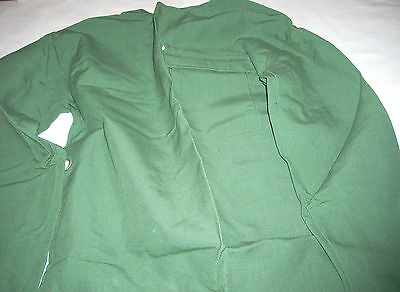 Fire Resistant Welding Safety Jacket Green Open Back Medium
