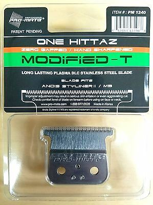 Pro-Mate One Hittaz Modified-T Blade Zero Gap fits Andis Styliner II, M3 Trimmer