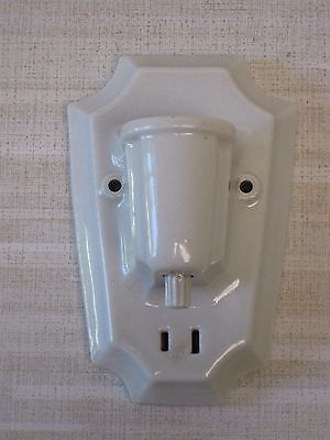Vintage Art Deco Pauling Sconce Light Fixture With Outlet And Switch - Cat 1740