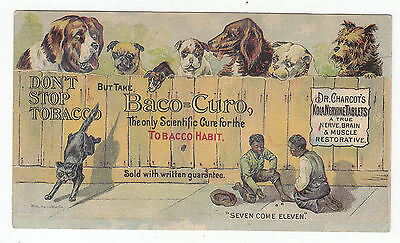 1880's Trade Card Baco-Curo Tobacco Habit Dr. Charcot's