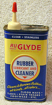 RU Glyde Rubber Lubricant Can Handy Oiler Tin