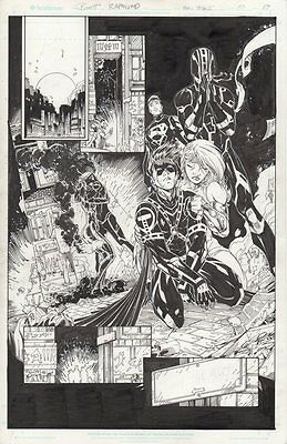DC Comics Teen Titans v4 Issue #10 Page 19 Original Art Brett Booth Holiday Sale