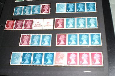 GREAT BRITAIN STAMPS-DEFINITIVES VARIOUS BLOCKS STAMPS MINT never hinged