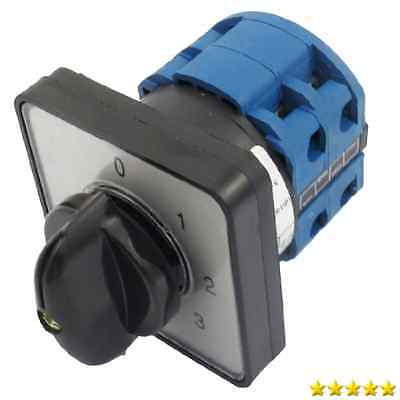 660V 20A 6 Terminals 4 Positions Rotary Cam Changeover Switch New New