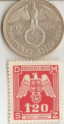 *WW2 - *german SILVER  EAGLE coin/STAMP  +...