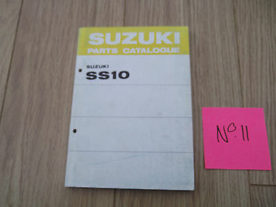Suzuki SS10 Parts Catalogue