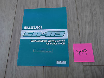Suzuki Swift SA413 5-door Supplementary Service Manual