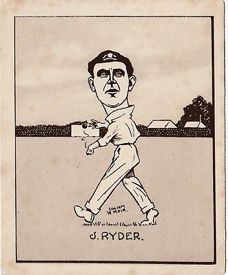 CARICATURES OF FAMOUS CRICKETERS - Hill - Ryder