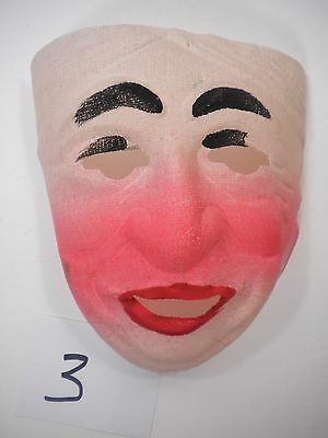Vintage Halloween Mask $12.00 Mid Century Hand Painted Gauze Unused Condition